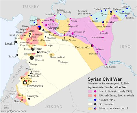 syrian war map syria civil war map august 2014 13 political