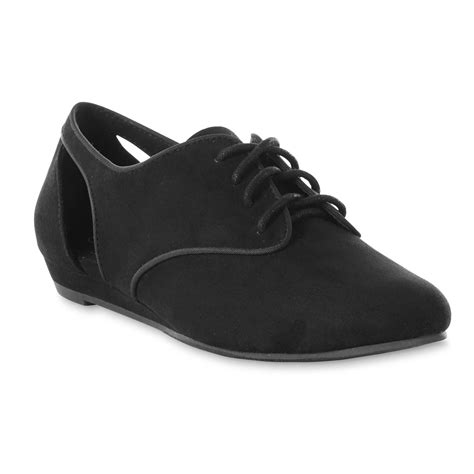 womens black oxford shoes route 66 s cecily black oxford shoe