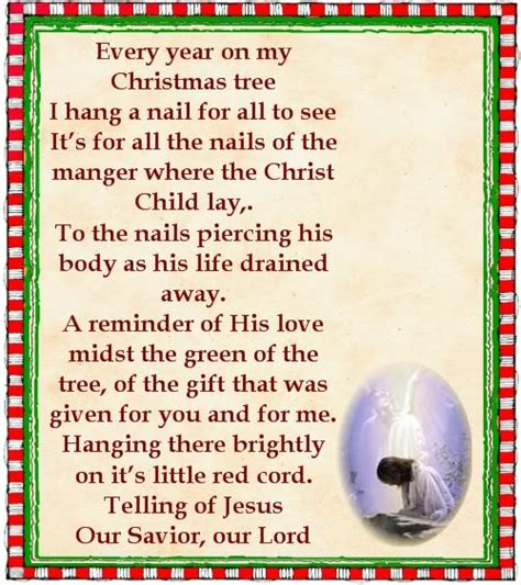 printable christmas nail poem inspirational poems for children photograph poems nail in