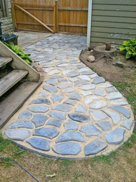 concrete mold patio using molds diy garden ideas