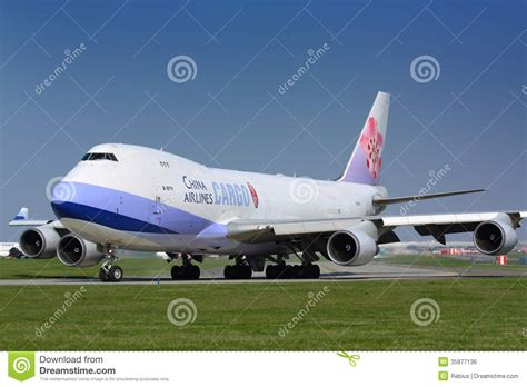 b747 china airlines cargo editorial photo image of plane 35877136