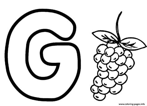 g color coloring pages alphabet g for grapesb4fb coloring pages