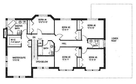 Six Bedroom House Plans traditional style house plan 6 beds 4 baths 2886 sq ft