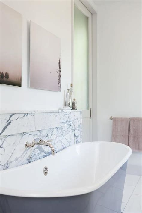 Marble Shelf Bathroom by Gray Bathtub With Marble Shelf Bathroom