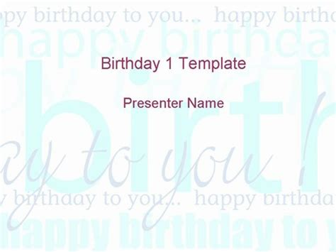 happy powerpoint templates happy birthday template