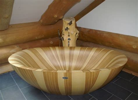 how to make wooden bathtub natural wooden bathtub with trunk like tap laguna pearl