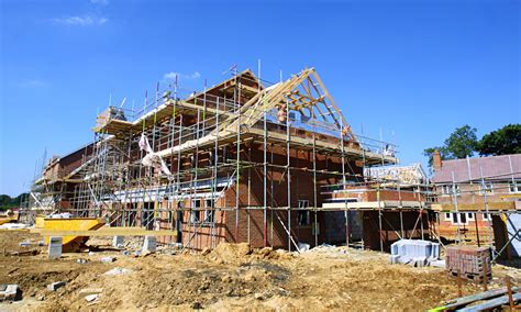 construction of a house housebuilding falls for first time in 18 months ons says