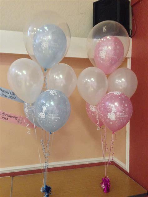 Baptismal Balloon Decor by Best 25 Christening Balloons Ideas On