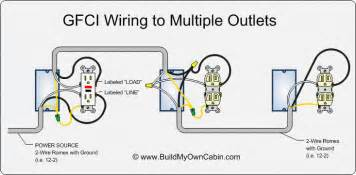 electrical wiring diagram configuration for 8 outlets with 1 gfci home improvement stack