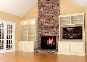 fireplace wall built ins w led tv nick miller design