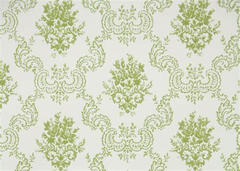 wallpaper green vintage 1950s vintage wallpaper by the yard green and white rose