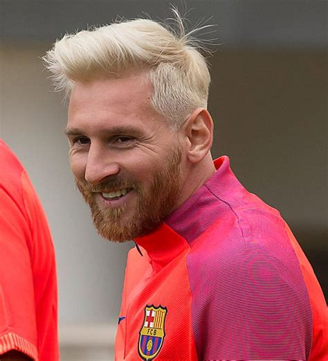 look lionel messi bleached his hair and the internet is