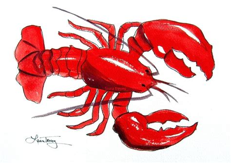 lobster watercolor print