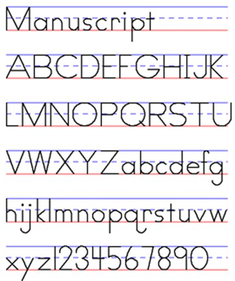 printable manuscript letters exles of handwriting styles draw your world draw