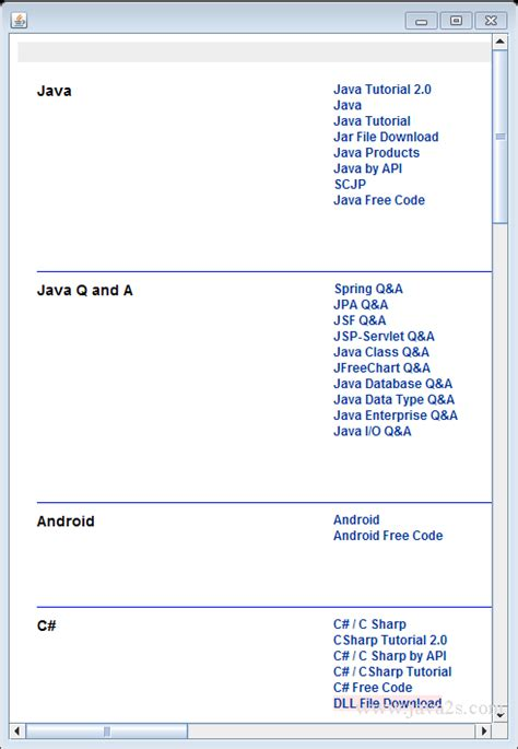 java pattern null java tutorial use jtextpane to display a web page from a