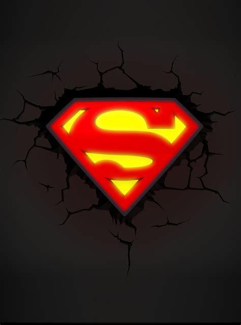 deco light 3d deco light superman logo official for fans funidelia
