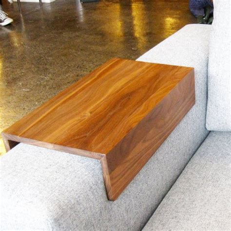 wooden couch arm wrap custom arm drink rest laptop table for straight arm sofa