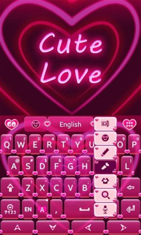 go keyboard themes love cute love go keyboard theme download apk for android