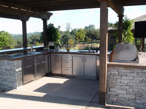 simple outdoor kitchen ideas photo by eric perry