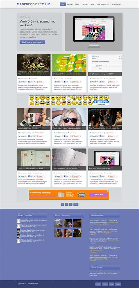 homepage themes html gridock wordpress theme magpress com