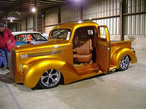 golden trucks gold rod truck with cool wheels cars trucks