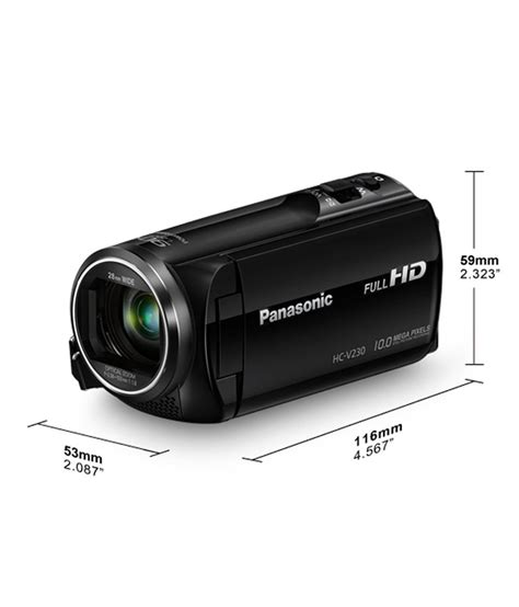 Camcorder Panasonic Hc V385 Hd Promo panasonic hc v230 2 52mp hd camcorder black price in india buy panasonic hc v230 2 52mp