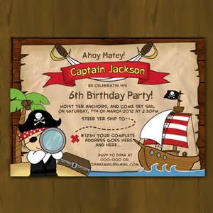pirate invitation printable birthday invitation card diy splashboxdesigns on artfire