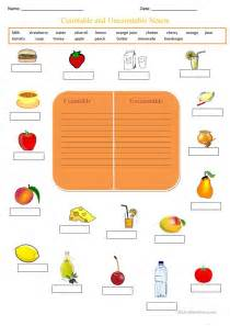countable and uncountable nouns worksheet free esl