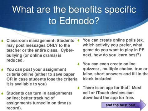 edmodo benefits edmodo presentation