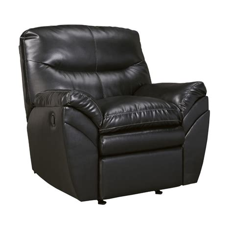 ashley durablend rocker recliner ashley tassler durablend leather rocker recliner in black