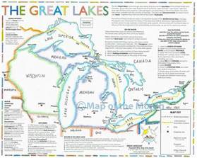 great lakes map maps for the classroom