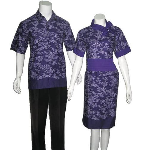 Setelan Batik Agnes baju batik sarimbit modern mega mendung biru modern