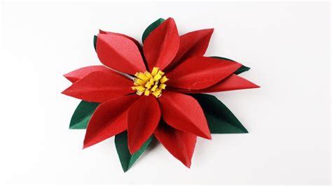 floreros para una flor como hacer una flor de nochebuena de papel paso a paso