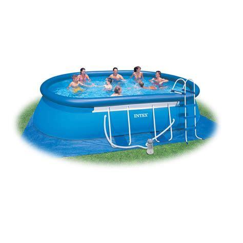 piscina da giardino intex piscina da esterno intex ovale 549x305x107 san marco
