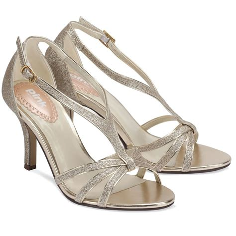 Pink Paradox Vibrant Champagne   Wedding Shoes   Crystal
