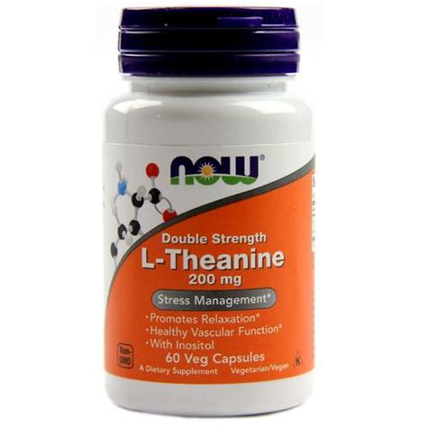 l theanine for dogs now foods l theanine 200 mg 60 vegetarian capsules evitamins