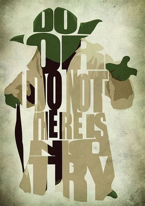 printable yoda quotes star wars yoda poster minimalist illustration typography