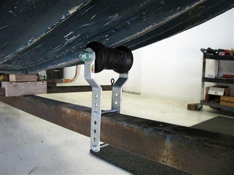 boat trailer keel roller installation ce smith adjustable mounting brackets for keel rollers