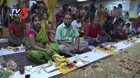 lotus temple va satyanarayana swamy vratham held in sv lotus temple