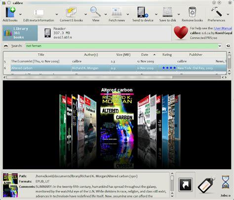 ebook format lit calibre free open source e book library management