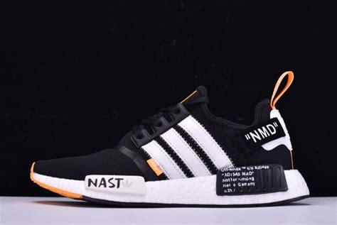 white x adidas originals nmd r1 black white orange ba8860 shoes yeezy boost 2019