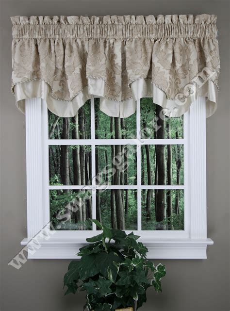 kitchen curtains and valances darby scalloped valance gold renaissance kitchen