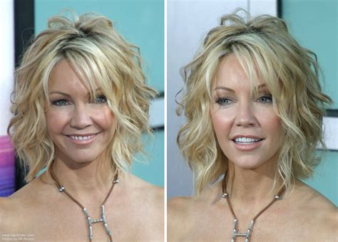 hairstyles cut into neck heather locklear with her hair short and cut into a one