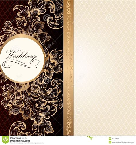 luxury invitation card template luxury wedding invitation card in retro style with vintage