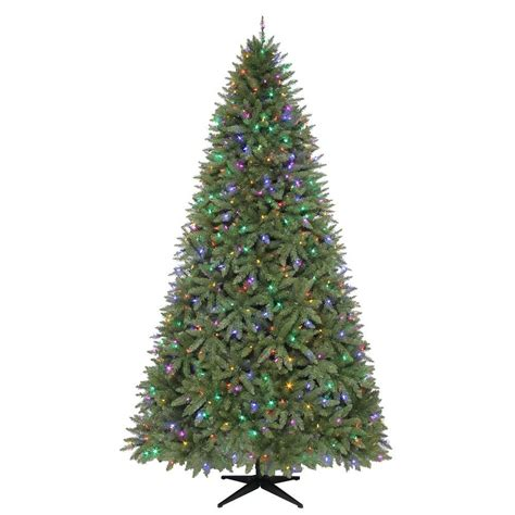 dunken quick set christmas tree 9 ft matthew fir set artificial tree with 700 color choice led lights and