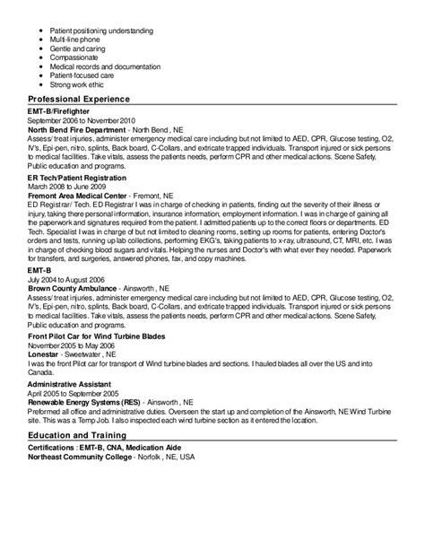 Emergency Department Resume Darcie Hubbard Resume
