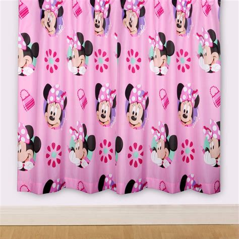 minnie mouse curtains disney minnie mouse pretty 66 quot x 72 quot curtains new