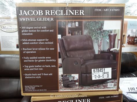 synergy caroline leather recliner swivel glider synergy jacob leather swivel glider recliner costco