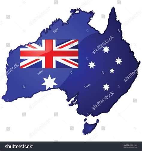 Email Address Finder Australia Glossy Vector Illustration Of The Map Of Australia With The Australian Flag Inside It