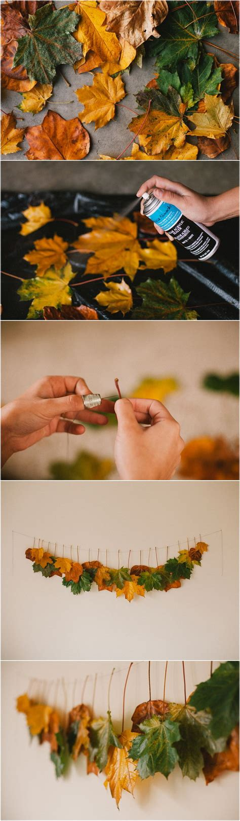 30 cool ways to use autumn leaves for fall home d 233 cor 30 awesome diy ideas and tutorials using fall leaves